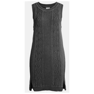 Leith Overwashed Cable Knit Tank Dress
